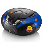 Tragbarer CD-Player UKW MW Radio Tuner MP3 USB im Set inklusive Puffy Sticker