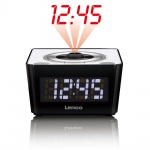 Radio Wecker UKW Tuner Funk Uhr dimmbar LED Display Lenco CR-16_weiss