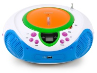 Kinder Stereo Musik Anlage Radio Toplader CD/MP3-Player AUX Lenco SCD-40 USB Kids