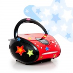 CD Player FM Radio Kinder Boombox Musik Stereo Anlage im Set inklusive Sternchen Sticker