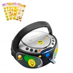 Stereo Anlage Audio Radio CD-Player USB Bluetooth Lichteffekt im Set inklusive Smiley Aufkleber