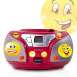 Stereo Radio CD Player USB Anschluss Boombox Musik Anlage im Set inklusive Smiley Sticker
