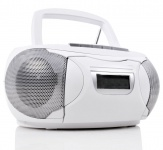 Stereo Musik Anlage CD-Radio AUX Kassettendeck Boombox Denver TCP-39 weiss