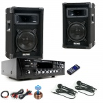 PA Party Musikanlage Boxen Verstärker USB MP3 SD Bluetooth Funkmikrofon DJ-Karaoke King 2