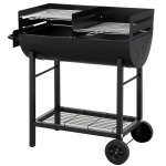 Holzkohlegrill Ölfassgrill mit Rollen Grill Camping Grillkohle Tepro Detroit-1037