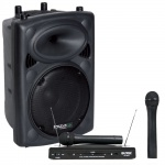 400 Watt Aktiv Box PA Lautsprecher Bluetooth USB MP3 Verstärker Funk Mikrofon Set DJ-Active 4