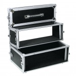 Doppel-CD-Player-Case Tour Professionelles DJ-Flightcase Omnitronic Pro 3HE sw