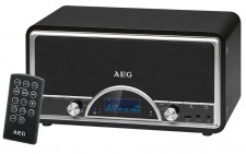 Retro Radio USB Bluetooth Stereo Anlage schwarz LCD Display Fernbedienung AEG NDR4378_sw