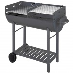 Ölfassgrill mit Rollen Grill Camping Holzkohlegrill Grillkohle Tepro Dallas-1008