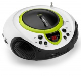 Tragbarer CD-Player MP3 USB Anschluss Radio Tuner AUX LED Lenco SCD-38 USB grün