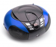 Tragbarer CD-Player UKW MW Radio Tuner MP3 WMA USB LED Display Lenco SCD-37 USB blau