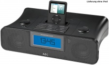 AEG iPod Soundmachine mit UKW/MW-Radio Wecker Uhrenradio AUX-IN LCD-Display SRC 4321