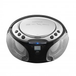 Stereo Anlage Audio FM Radio CD-Player USB Bluetooth MP3 Lichteffekt Lenco SCD-550 silber