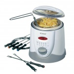 2 in 1 Fondue Fritteuse Friteuse inkl Zubehör 1 Liter Cool Touch Bomann FFR 1290