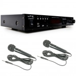 100 Watt HiFi-Verstärker Karaoke Receiver Bluetooth MP3 USB SD + 2x Mikrofon