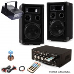 PA Party Musikanlage Boxen Verstärker USB MP3 SD Bluetooth Disco Strobe DJ-Future 5