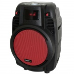 Tragbare 16cm Karaoke Beschallungsanlage Party DJ USB SD REC Bluetooth & VHF MIC POWER6-PORT-R