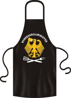 """Grillschürze """"Bundesgrillminister"""" 100% Baumwolle"""