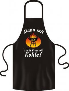 Grillschürze Mann mit Grill braucht Frau mit Kohle 100% Baumwolle