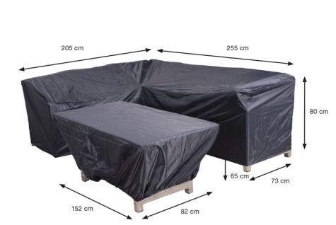 Abdeckhaube 2er Pack für Loungemöbel, zwei verschiedene Planen 205/255x73x80 + 152x82x65 cm 100% Polyester