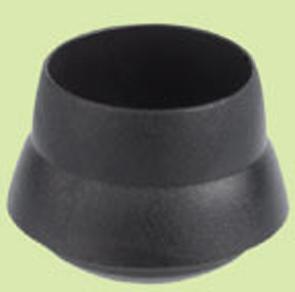 Fusskappe Streckmetalltisch 25mm schwarz