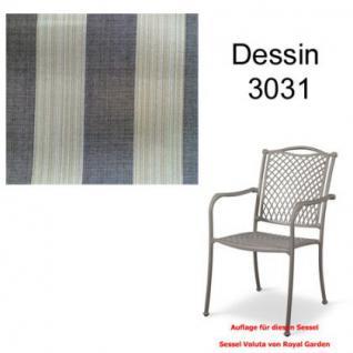 Auflage zu Sessel Voluta Dessin 3031 100% Polyacryl