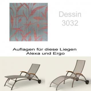 Auflage für Liege Alexa oder Ergo von Royal Garden im Dessin 3032 100% Polyacryl, Lichtbeständigkeit 7-8 von 8