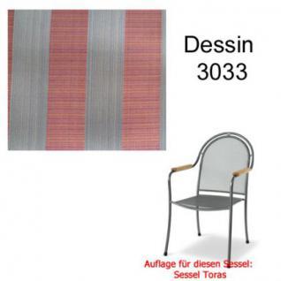Auflage zu Sessel Toras Des. 3033 100% Polyacryl