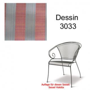 Auflage für Voletta im Dessin 3033 100% Polyacryl, Lichtbeständigkeit 7-8 von 8