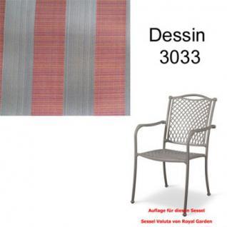 Auflage zu Sessel Voluta Dessin 3033 100% Polyacryl