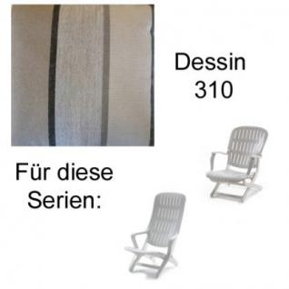Auflage für Sessel Estanza und Tangor von Allibert Evolutiv im Des. 310 100% Polyacryl, Lichtbeständigkeit 7-8 von 8