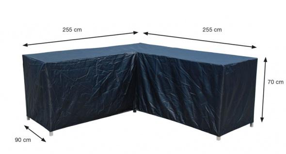 Schutzhülle Loungemöbel 255/255x90cm, Höhe 70cm 100% Polyester