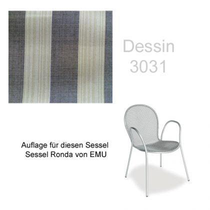 Emu Emu Emu Auflage Sessel Ronda Des. 3031 100% Polyacryl 5c3fe9