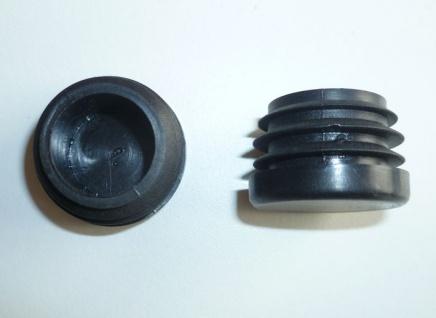 Fuss-Stopfen rund 25mm - Gewinde 20 mm schwarz