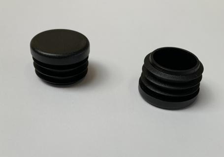 Fuss-Stopfen rund 30mm - Gewinde 28 mm schwarz