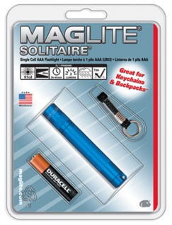 Mag Lite® Mini Solitaire blau 80mm, 2 lm, inkl. 1x AAA-Batterie (10279#
