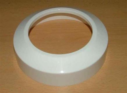 Abdeckrosette weiß für Stand - WC (4551#