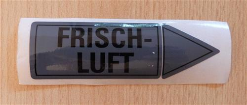"""Aufkleber """" FRISCHLUFT"""" Größe 94 x 30 mm 1 Stück (7185#"""
