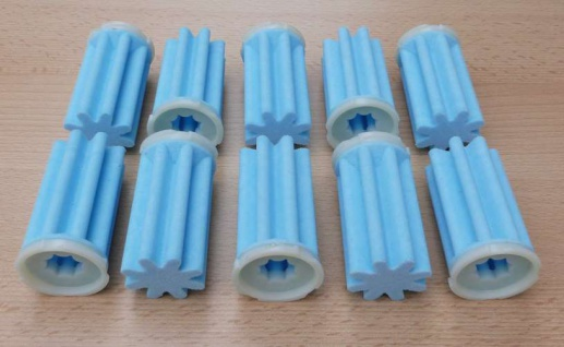 Heizölfilter Siku (50ym) sternform kurz / blau / 10 Stück (7737#