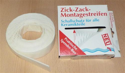 Schallschutz-Zick-Zack-Montagestreifen für alle Keramikteile 9m (7643#
