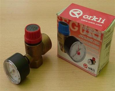 Kombi - Sicherheitventil ORKLI Heiz. 2, 5bar / 1/2 Zoll (10604#