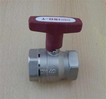 "Isolierkugelhahn ISO-T 1 1/2"" DN 40 roter Griff / HS (6762#"