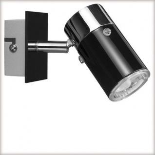 Strahler 1 x 7 Watt schwarz / chrom / 66511 - Vorschau