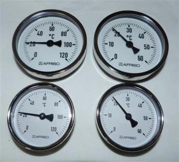 Magnet - Anlegethermometer Ø 63 und Ø 80 mm / 0 bis 60 und 120°C