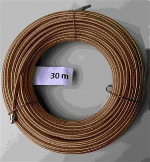 Einziehspirale 30 Meter 4 fach gedrehter Stahldraht gelb (5786#