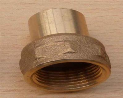 """Rotguss ÜG-Muffe mit Nippel, 22 mm x 3/4"""" IG (10738#"""
