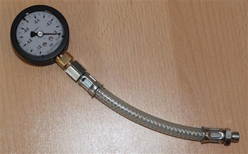 Vakuummanometer mit Glyzerin -1bar bis 0bar incl.Druckschlauch (6708# - Vorschau