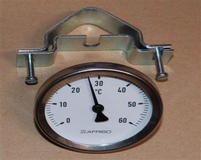 Anlegethermometer Ø 63mm mit Unischelle 0-60°C (9743# - Vorschau
