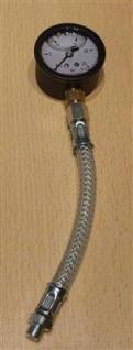 Pumpendruckmanometer mit Glyzerin 0 bis 25bar incl.Druckschlauch(6691#