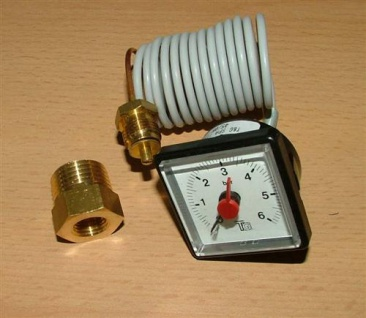Kapillarmanometer 42x42mm 1m Kapillarlänge 0-6bar (401#